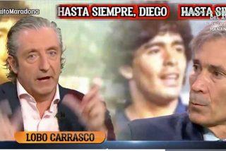 """'Lobo' Carrasco la lía en medio del dolor por Maradona: """"¡Tenía celos de Messi!"""""""