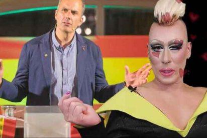 Un gay 'drag queen' defiende a Abascal y a VOX y revienta a PSOE y Podemos