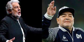 """Los progres que 'linchan' a Plácido Domingo por """"machista"""", aplauden a Maradona que pegaba a las mujeres"""