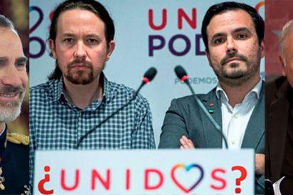 Pablo Iglesias se inclina ante Felipe VI y 'traiciona' a Alberto Garzón con Ferreras de testigo