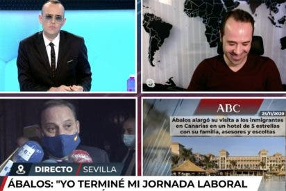 """Ábalos engancha el micrófono de Risto para sacar toda su bilis contra el ABC: """"¡No me van a intimidar!"""""""
