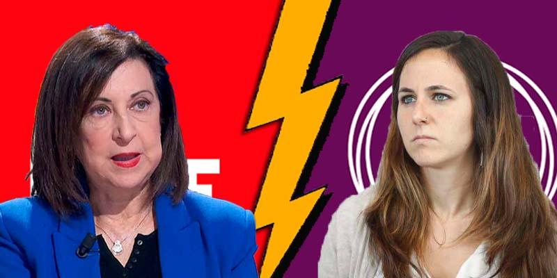 """Podemos apuñala por la espalda al PSOE y despotrica de Robles por """"dejarse adular por la derecha mediática"""""""