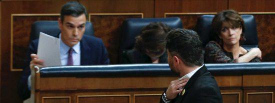 Un paso más en la infamia: Sánchez acuerda con Rufián subir los impuestos a Madrid