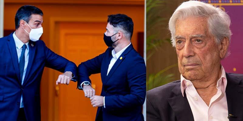 """Vargas Llosa califica de """"idiotez sin límites"""" el acuerdo del PSOE-Podemos y ERC para 'erradicar el castellano'"""