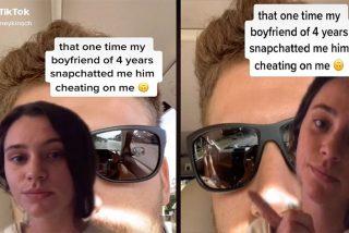 Envía un selfi a su novia y lo pilla siendo infiel por el reflejo de sus gafas