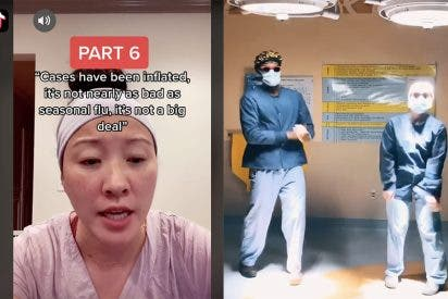 Médicos y enfermeras a la última: utilizan TikTok para combatir las 'fake news' de Covid-19