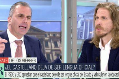 Ortega Smith se mofa del cursi podemita de turno en Telecinco: así se gana una apuesta en 10 segundos