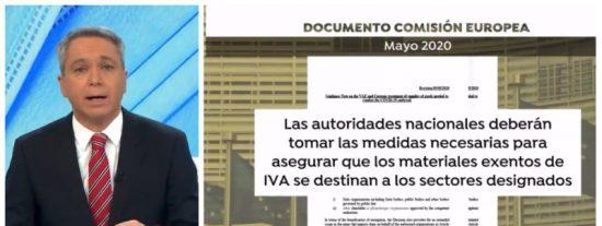 """Vallés desenmascara al Gobierno Sánchez: """"Europa permitió bajar el IVA de las mascarillas hace 6 meses"""""""