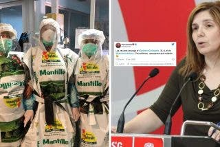 """Twitter vapulea a la socialista que dijo que las vacunas las pagaba Sánchez: """"Los sacos de abono no tenían el logo del Gobierno"""""""