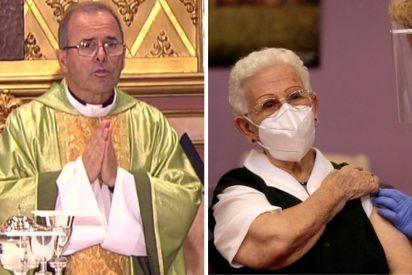 La Santa Misa de La 2 derrota en audiencia al show de la vacuna de La 1 en TVE