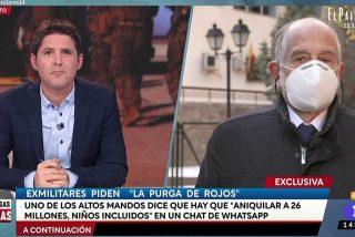Un topo de Julio 'El Rojo' traicionó a sus amigos militares retirados filtrando el contenido del chat