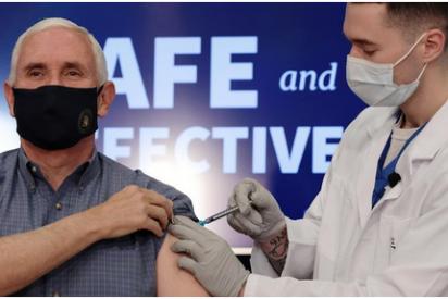 Mike Pence recibe la vacuna de Pfizer contra el coronavirus
