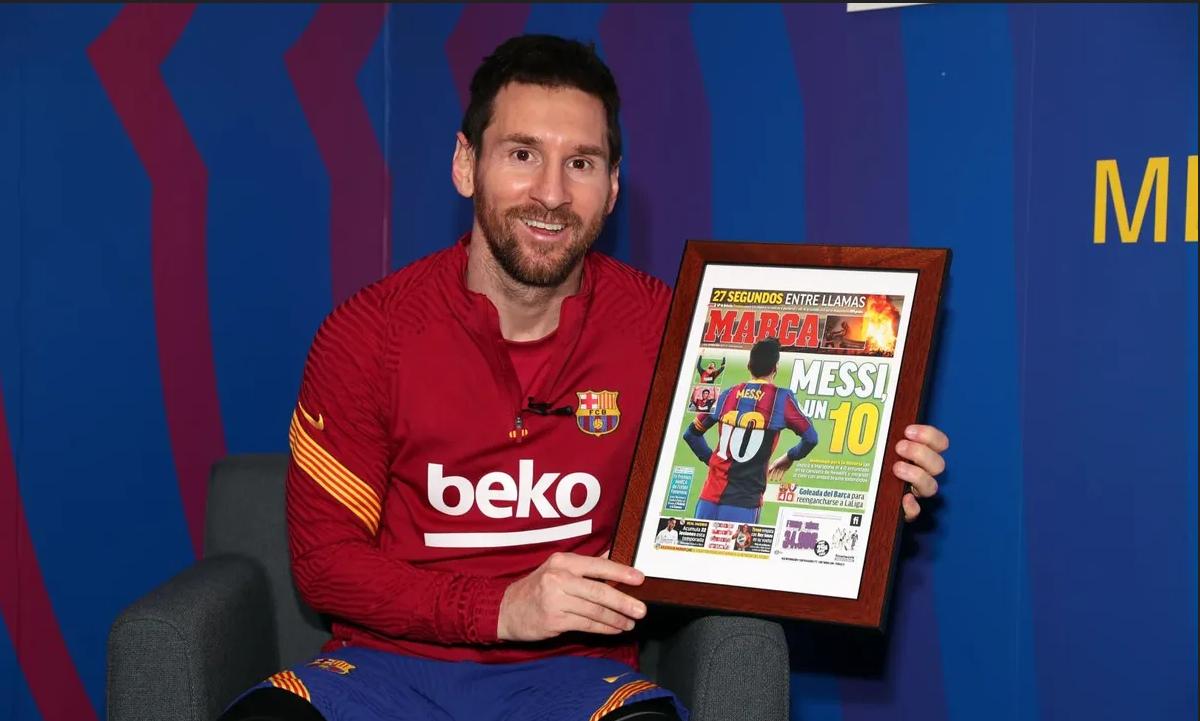 Messi desvela detalles de su homenaje a Maradona al recibir el premio Pichichi