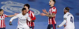 El Real Madrid gana 2-0 al Atlético y aprieta la pelea por LaLiga