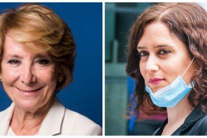 """Esperanza Aguirre: """"Ayuso no suplantará a Casado, ella tiene la cabeza puesta en Madrid"""""""