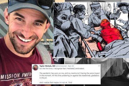 """El dilema de Taylor Nichols, médico judío: """"Soy nazi y tengo coronavirus...no me deje morir, doctor"""""""