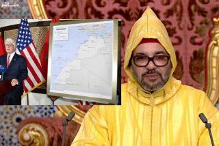 El embajador de EEUU regala a Mohamed VI un mapa de Marruecos con el Sáhara incluido