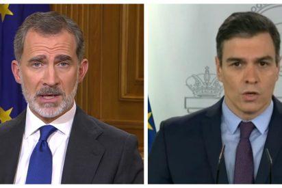 """La prensa elogia el texto """"parco en metáforas"""" del rey Felipe VI alejado de la """"barata retórica belicista de Sánchez"""""""