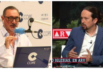 """Carlos Herrera: """"Iglesias aprovechará la cuarentena de Sánchez para marcar paquete con cualquier estupidez"""""""