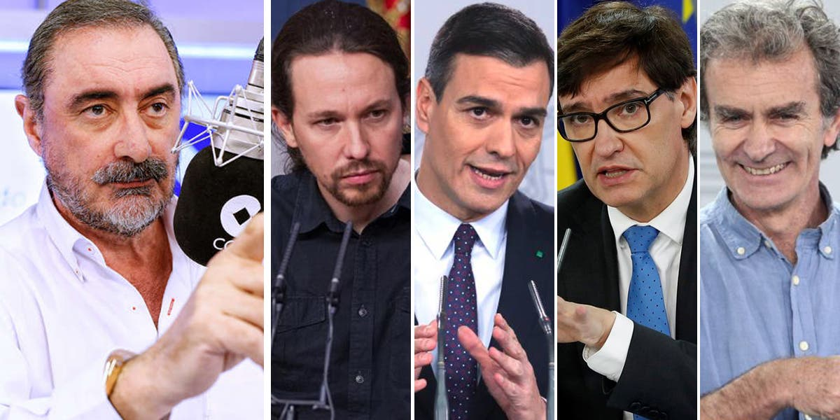 El genuino nombre que le ha puesto Carlos Herrera al cuarteto 'terrorista' Iglesias, Sánchez, Illa y Simón