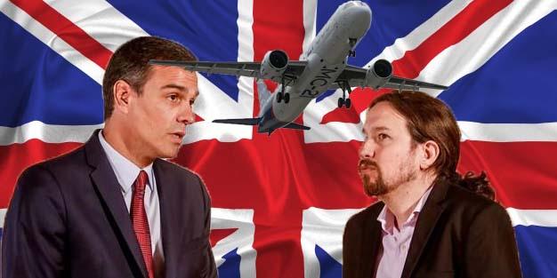 Mal y tarde: Sánchez cierra la frontera a Reino Unido tras 400 vuelos en riesgo por la 'cepa británica' del COVID