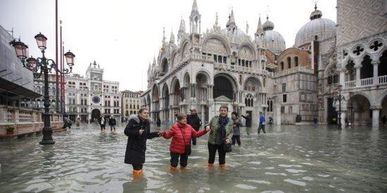 Venecia: falla el sistema de diques y la ciudad de los canales se vuelve a inundar