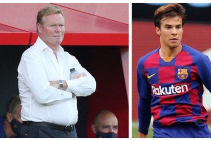 Koeman acusa al juvenil Riqui Puig, frente a todo el Barça, de ser el soplón de los periodistas