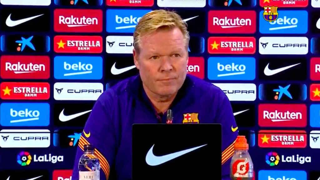 """Koeman despeja los rumores: """"El club está conmigo en una situación de reconstrucción"""""""