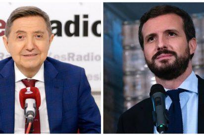 """Losantos: """"Si Casado no estuviera tan atontado, debería presentar ya una moción de censura contra Sánchez"""""""