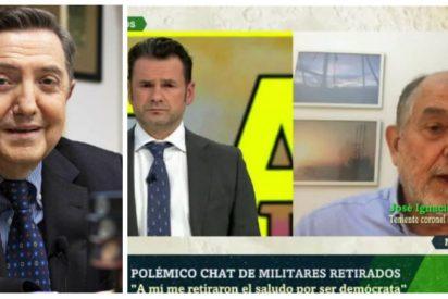 Losantos torpedea la estratagema del topo de Podemos para poner en solfa el patriotismo de los militares