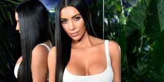 Kim Kardashian posa con poquita ropa para vender su nueva línea de pantis