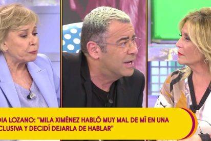 'Sálvame': Lydia Lozano se desmorona como un azucarillo y confiesa que no se habla con Mila Ximénez