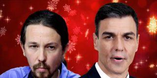 Pablo Iglesias y Pedro Sánchez te desean 'Feliz Covidad'
