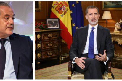 Marcos de Quinto 'recrea' la escenografía que Sánchez e Iglesias anhelaban para el mensaje de Felipe VI