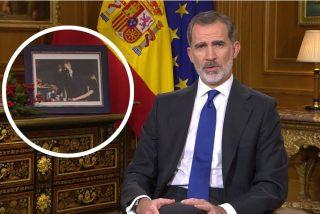 Los detalles del discurso del Rey: una foto con la princesa Leonor, recuerdo a los militares y una corbata azulona