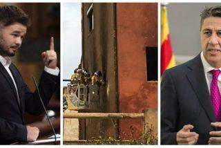 Twitter chamusca a Rufián por imputar a Albiol la muerte de 3 okupas en el incendio de una nave en Badalona
