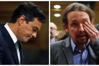 Sánchez se alegra y se cabrea con el hundimiento de Podemos en la última encuesta electoral
