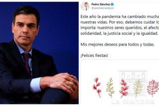 Twitter coge por la solapa a Pedro Sánchez por evitar, una vez más, decir ¡Feliz Navidad!
