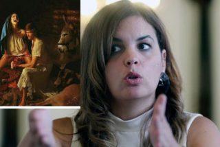La vulgar líder del PSOE, el coño y su felicitación de Navidad: la Virgen María pariendo al niño