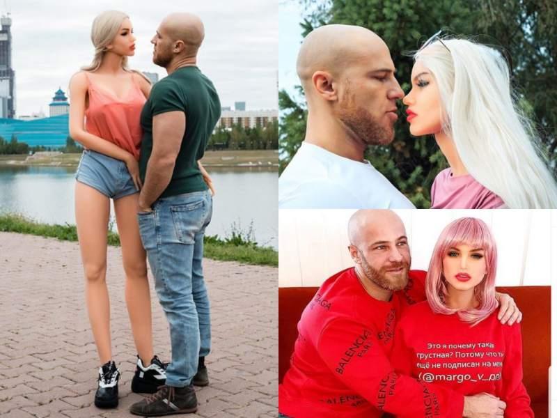 Un fisicoculturista ruso se casa con una muñeca sexual tras 'enamorarse' en la cuarentena