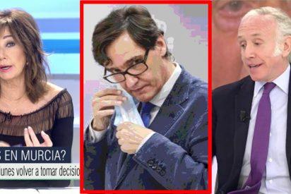 """Palos de Ana Rosa e Inda al ministro Illa por negar los test para Navidad: """"¡Es un indocumentado!"""""""