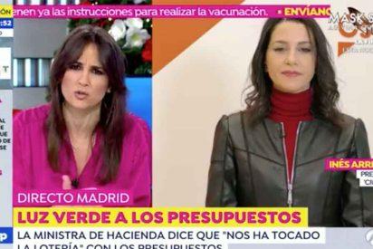 """Arrimadas se lanza a por Montero por comparar los PGE con la lotería: """"Yo no haría bromitas con esto"""""""