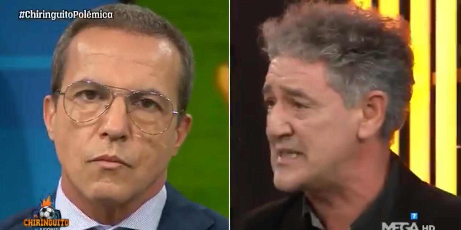 Cristóbal Soria ataca a los árbitros (de nuevo) y Rafa Guerrero le pone de vuelta y media en 'El Chiringuito'