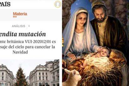 Twitter despluma a El País por usar la 'cepa británica' del COVID para atacar a la Navidad