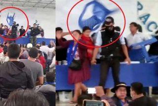Evo Morales toca fondo: le lanzan sillas durante un acto de su propio partido