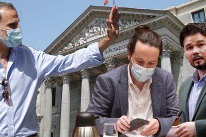 """Podemos y ERC obligados a 'postrarse' ante Felipe VI y la CUP les 'escupe' a la cara su """"republicanismo"""""""