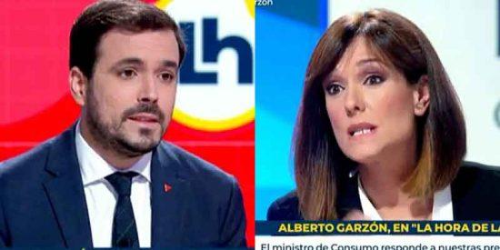 Alberto Garzón, el podemita que más ha hecho el ridículo ante Mónica López: la presentadora le rectifica en directo