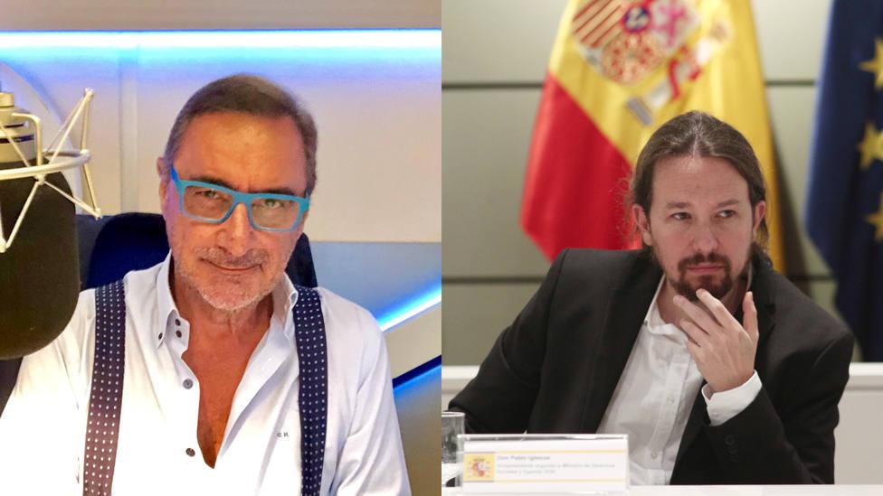 """Carlos Herrera despacha a Pablo Iglesias: """"¡Cierra al salir!"""""""