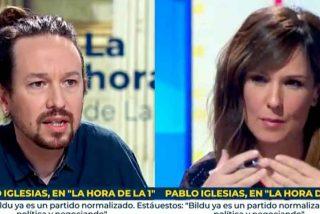 """Hasta Pablo Iglesias ha alucinado: Mónica López (TVE) desea liberar a Bildu """"de la carga del pasado"""""""