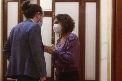 """¡Cojan palomitas! Bronca entre Pablo Iglesias y Montero en el Congreso: """"No seas cabezón"""""""